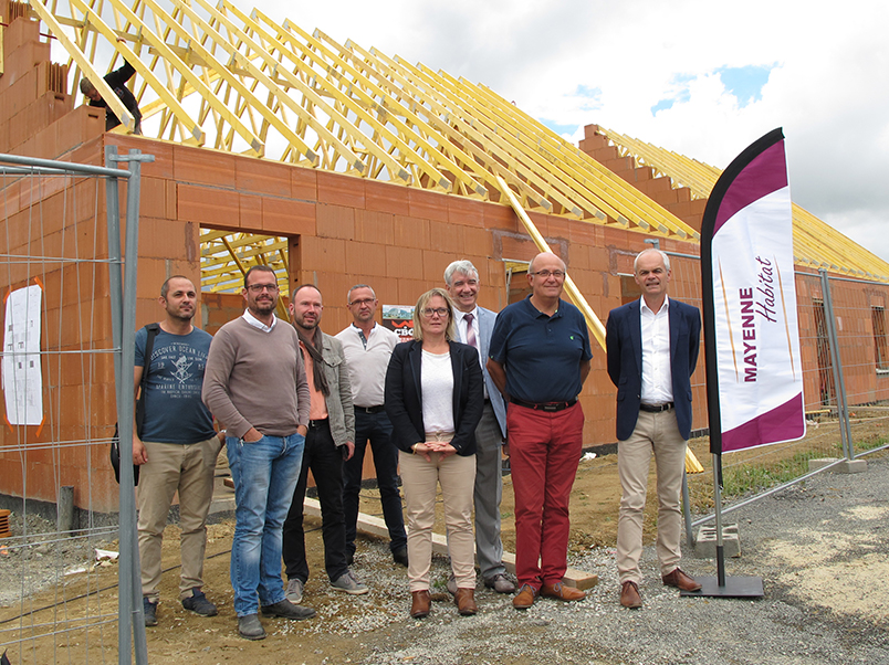 Loigné - Point presse sur le chantier Mayenne Habitat - 29/06/2017 - photo 01