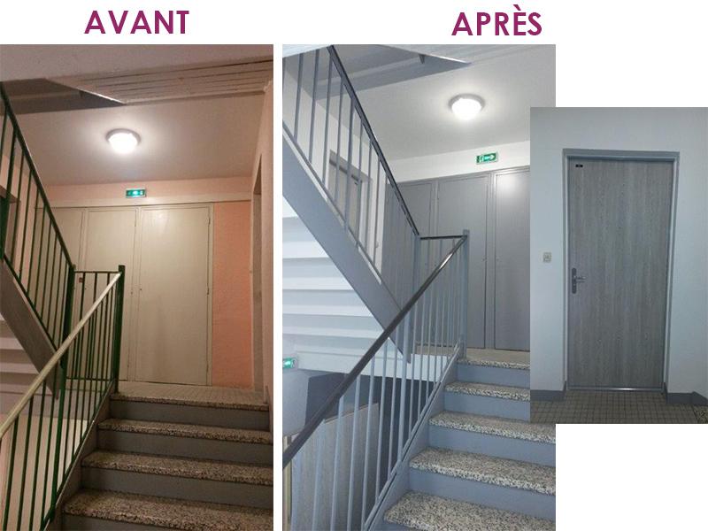 Portes palieres appartements 20170524234840 exemples de designs utiles - Porte paliere appartement ...